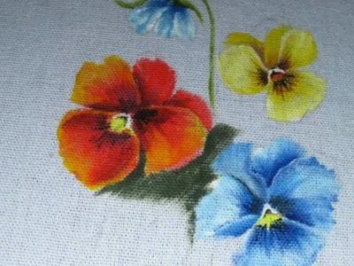 Pintura em tecido como pintar amor perfeito passo a passo
