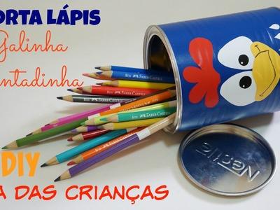Porta Lápis Galinha Pintadinha | DIY Dia das Crianças