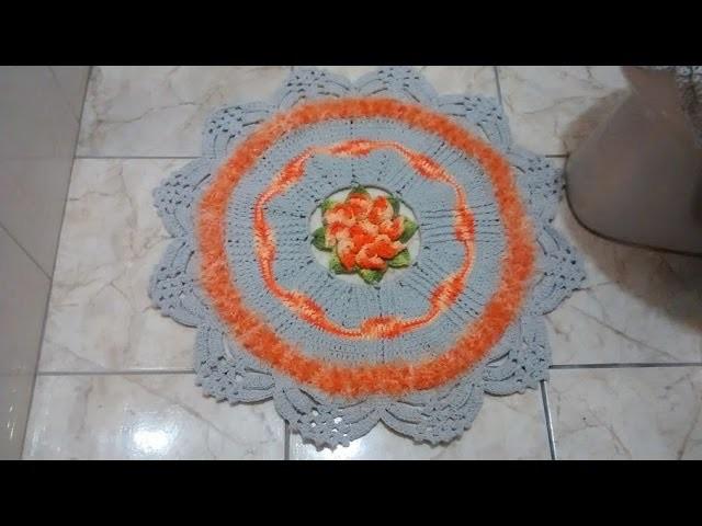 Tapete do jogo de banheiro em crochê Princesa