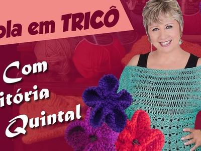 Vitória Quintal   Gola em Tricô com fio Fillati