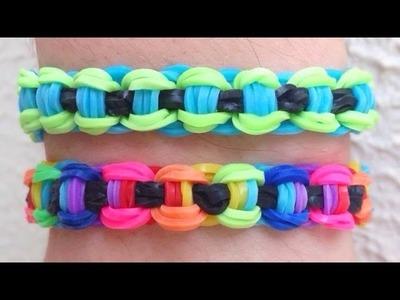 Como fazer pulseira de elástico: Corrente de Bicicleta #RainbowLoom