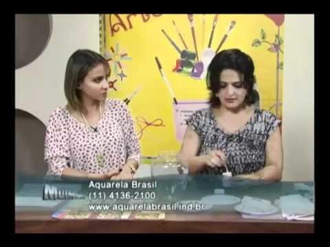 Craquelê no vidro - Artesã Marisa Magalhães - Aquarela Brasil Tintas - Parte 2.2