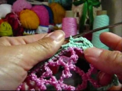 Crochê - Short Doll - Blusa - Parte 03.03