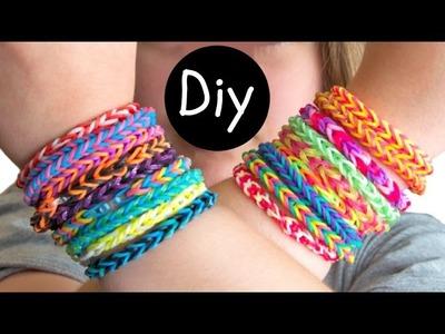 DIY #9: Como fazer pulseiras de elástico Fishtail e Hexafish