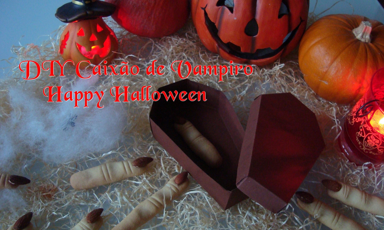 DIY Caixão de Vampiro para decorar festa # Halloween 6