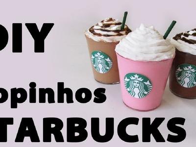 DIY: Copos Miniatura do Starbucks para Decoração (Starbucks Miniature Frapuccino Tutorial)