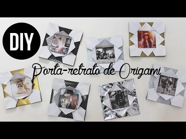 DIY PORTA-RETRATO DE ORIGAMI | Com papel de presente!