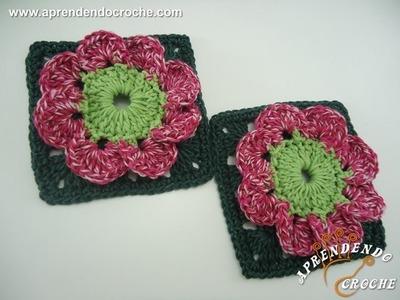 Flor de Croche Conchinha - Aprendendo Crochê