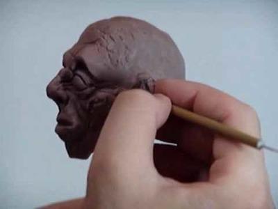 Modelagem de cabeça. Head Sculpture part 07