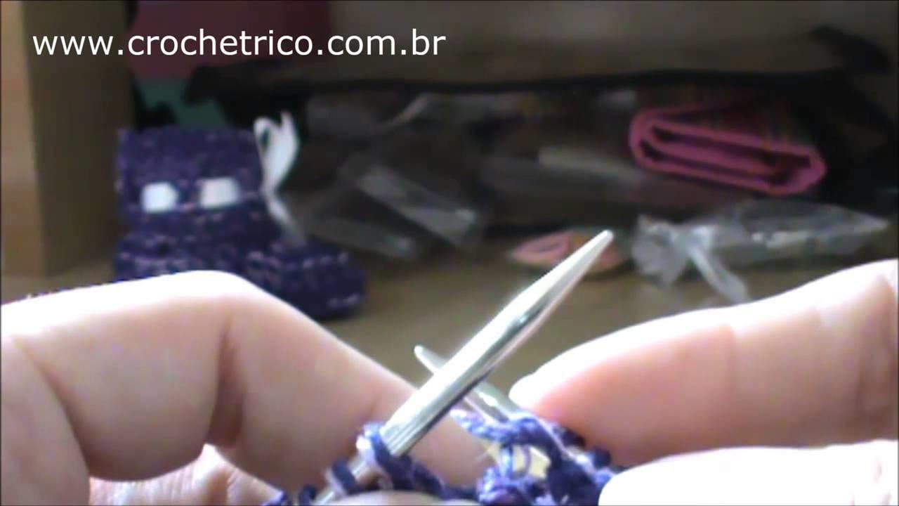 Tricô - Sapatinhos Yasmin (para Bebê RN) - Parte 01.02