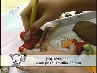 Ateliê na TV - Pano para Fogão com Aplicação de Galinha Caipira - Priscila Muller