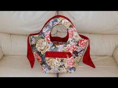 Bolsa.sacola em tecidos Dupla-face - Maria Adna Ateliê - Cursos e aulas de bolsas e sacolas