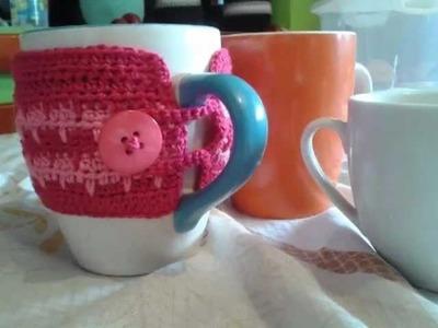 Capas de croche para xícaras