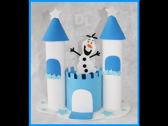 Centro de mesa castelo da frozen passo a passo