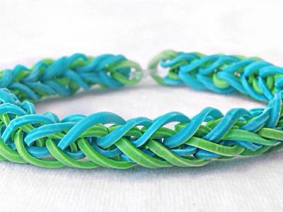 Como fazer pulseiras de elástico: French Braid (trançada) #LoomBands (sem tear)