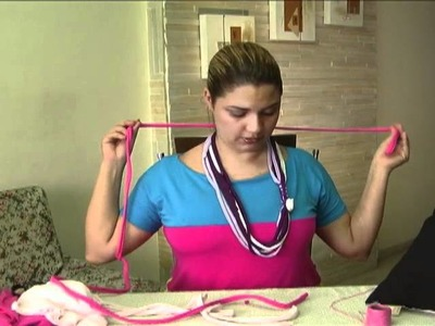Como fazer um colar de malha