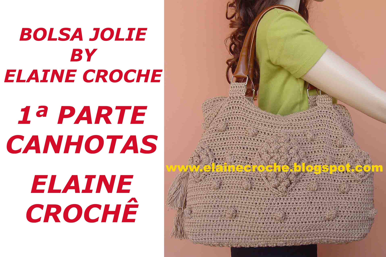 CROCHE PARA CANHOTOS - LEFT HANDED CROCHET - BOLSA JOLIE BY ELAINE CROCHE 1ª PARTE CANHOTAS