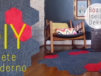 Faça você mesmo um tapete lindo e moderno!