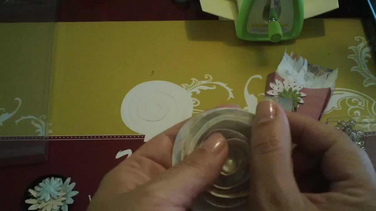 Facas 3D Sizzix p. Scrapbooking e Projeto de Flor 3D