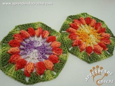 Flor de Croche Pipoca - Aprendendo Crochê