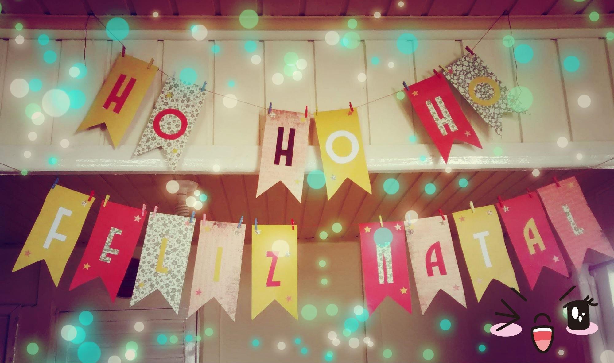 Ho Ho Ho Feliz Natal ~ Painel Decorativo ~ DIY Tutorial