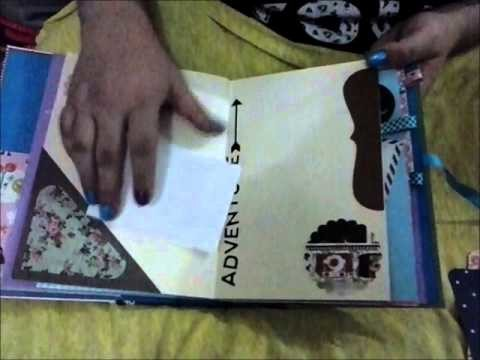 Mini -Album Scrapbook --- Tema Viagem