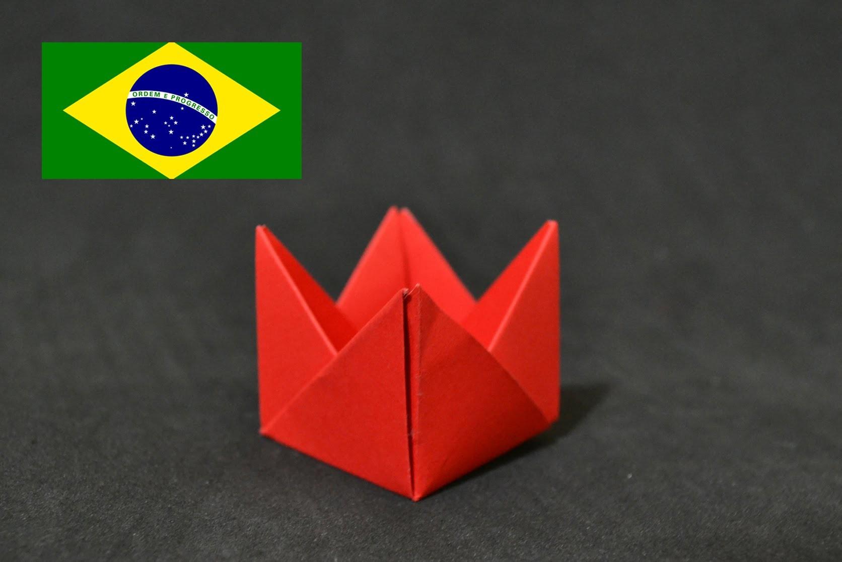 Origami: Forminha para doces - Tutorial com voz PT BR