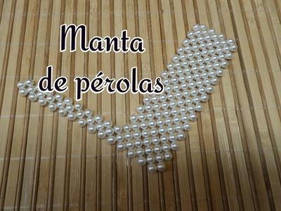 PASSO A PASSO  MANTA DE PEROLAS POR JANE DIAS