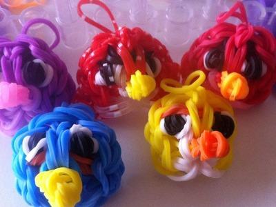 Pulseiras de Elásticos Rainbow Loom: Como fazer um Angry Bird com elásticos