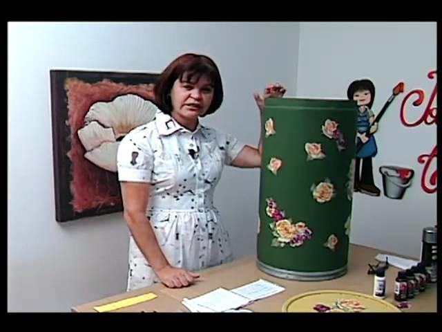 Tv Transamérica - Técnica: Decoupagem em papelão