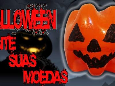 Abóbora Halloween Caseira - Cofre - DIY