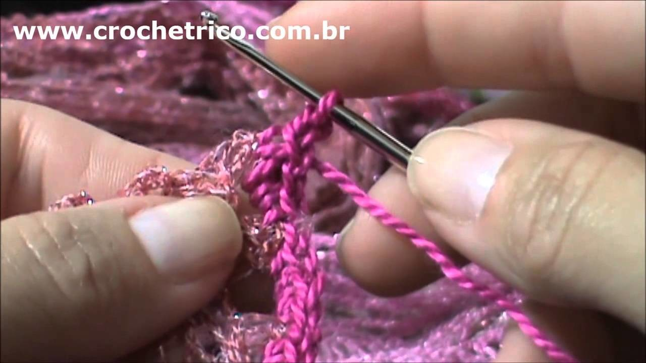 Crochê - Estola Sensual Maxi - Parte 02.04