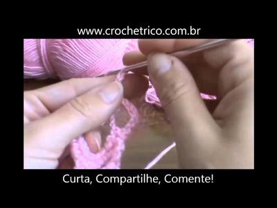 Crochê - Guia de Pontos - Aula 26 - Ponto Colméia