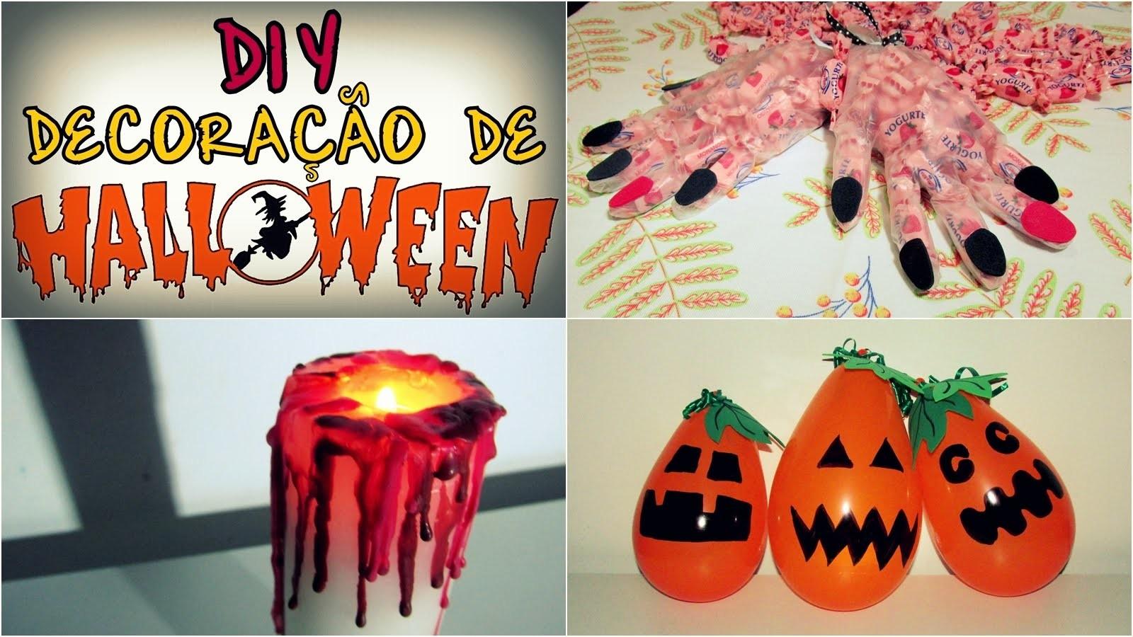 DIY - 3 Decorações de Halloween
