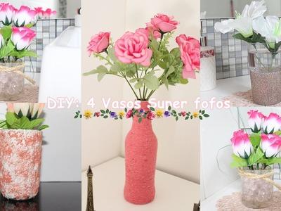 DIY: 4 Vasos Fofos Para Decoração