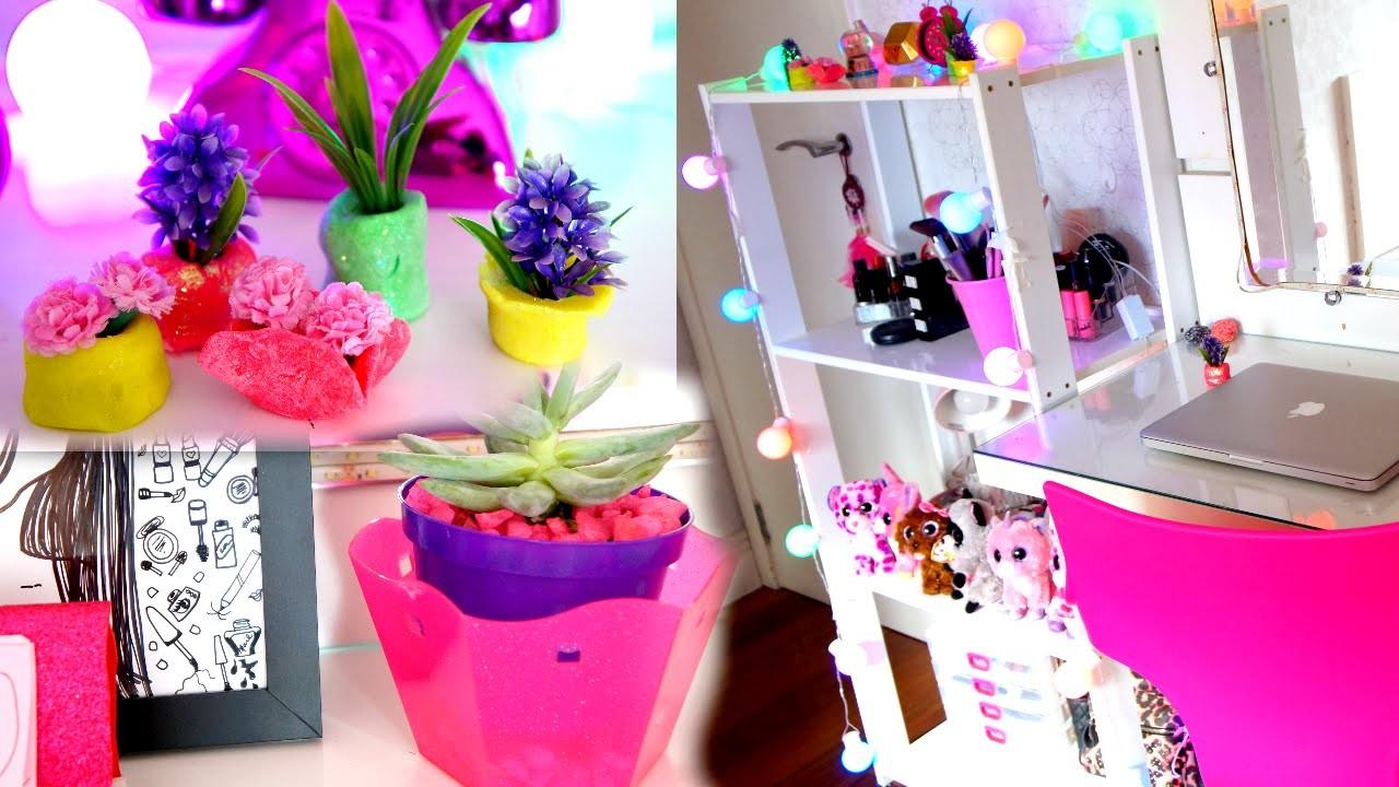 DIY:DECORAÇÃO DE QUARTO! - (Room decor ) Mude seu quarto rápido com 5 ideias!