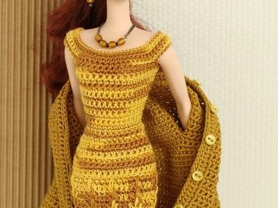 Ensinando a Fazer casaco model elgancy para barbie