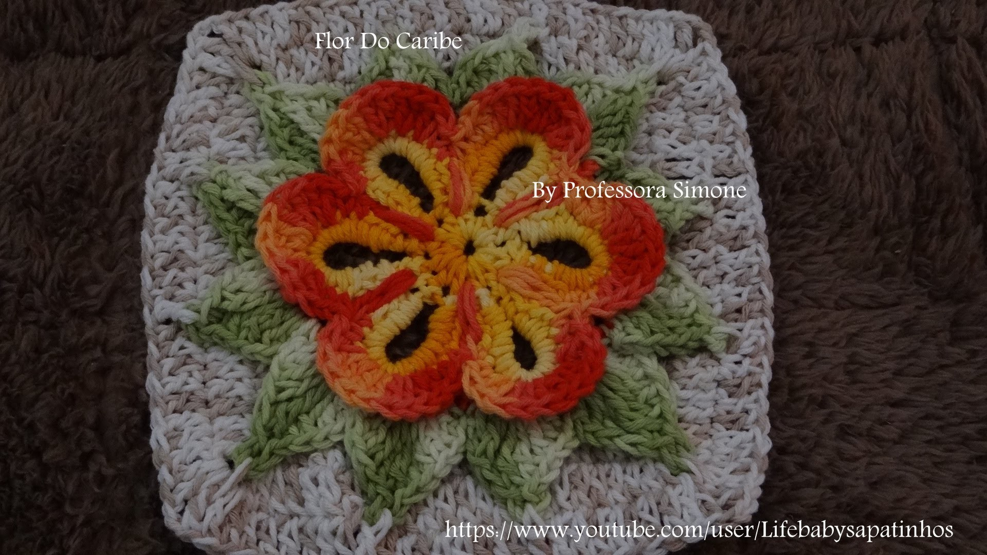 Passo a passo da Flor do Caribe em Crochê