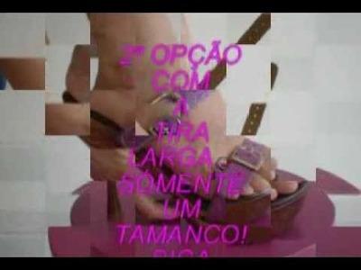 Sandália que troca as tiras - www.espacogattena.blogspot.com.br