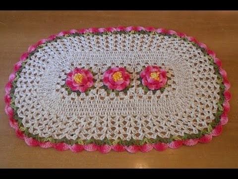 Tapete de crochê passo a passo jardim em flores parte 2