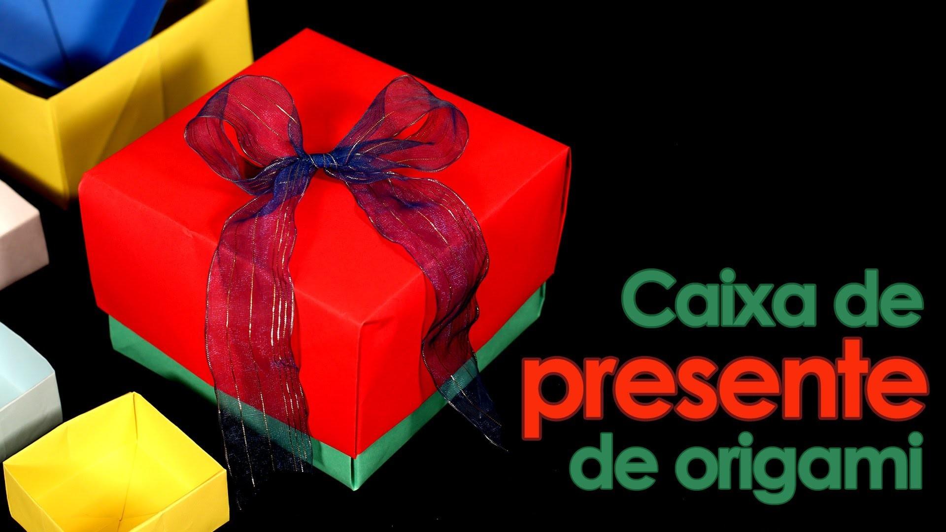 Caixa de presente de origami (dobradura fácil)