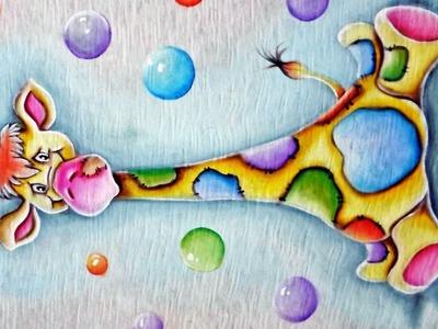 Como Pintar - Girafinha - Pintura em Tecido