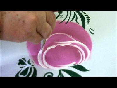 Como pintar rosas mais fácil