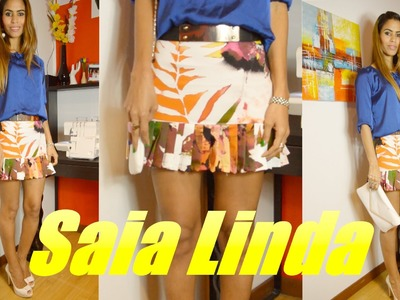 Costura saia linda por Janaina Pauferro