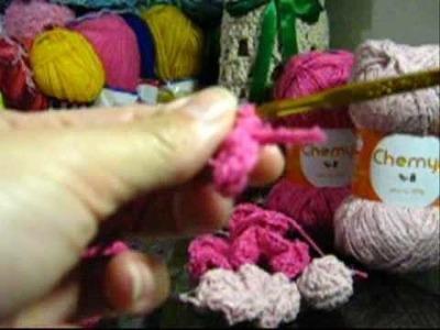 Croche - Cachecol Floral - Parte 02 - Final