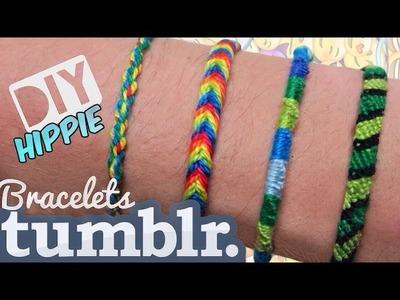 DIY #18: Friendship Bracelets, 4 modelos fáceis (pulseira da amizade.hippie)