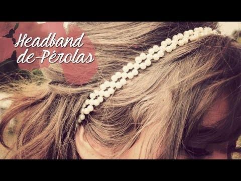 DIY Headband de pérolas