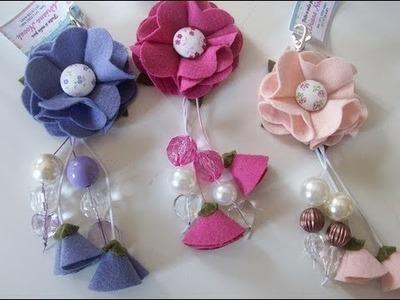 Flores e rosas em feltro