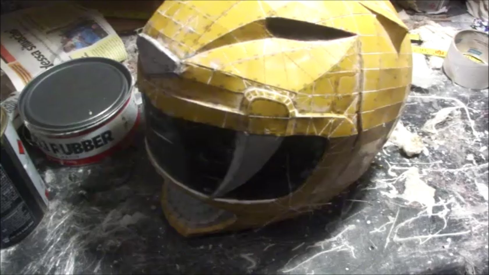 How do you make a POWER RANGER helmet - DIY - part 5