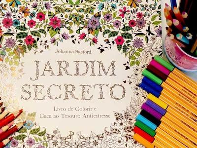 Jardim Secreto | Livro de Colorir Para Adulto e O Que Uso Para Colorir